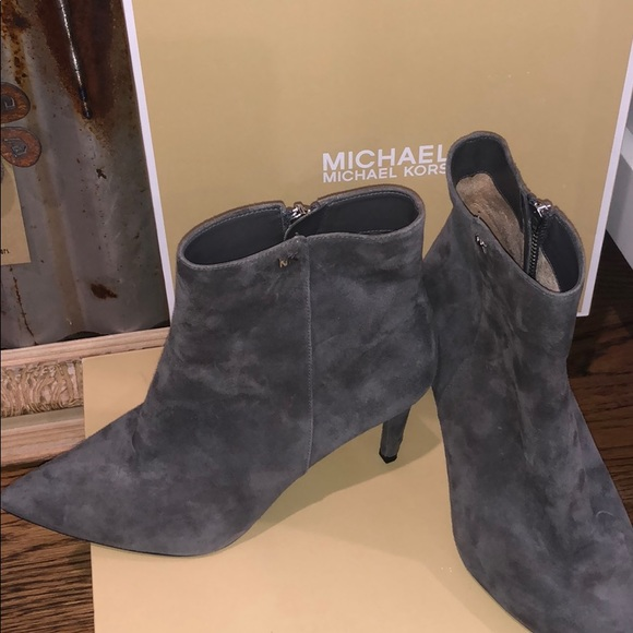 Michael Kors Dorothy Suede Ankle Boot